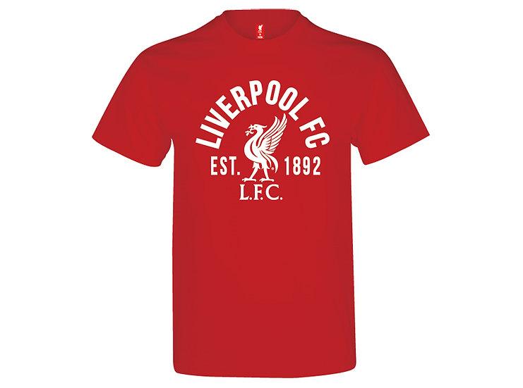 Liverpool FC crest cotton lifestyle t-shirt.