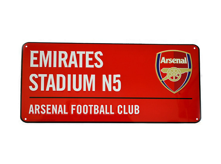 Arsenal metal street sign