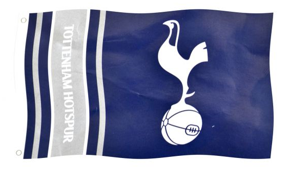 SPURS WORDMARK STRIPES FLAG 5 X 3