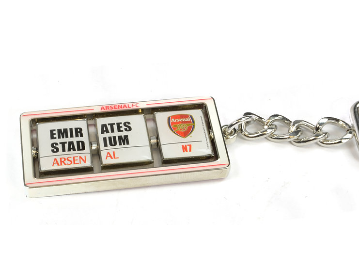 Arsenal Emirates stadium sign flip keyring