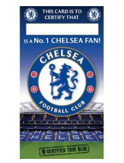Danilo Chelsea fan certificate greeting card