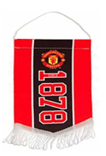 Red Devils Official Manchester United Football Crest Mini Pennan
