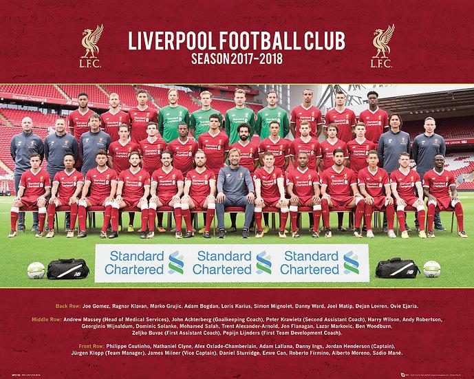 Liverpool Team Photo 2017-18.