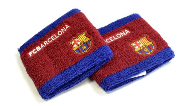 FC BARCELONA SIDE LOGO WRISTBANDS