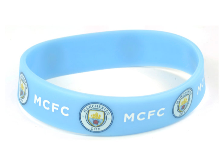 Manchester City FC silicon wrist band