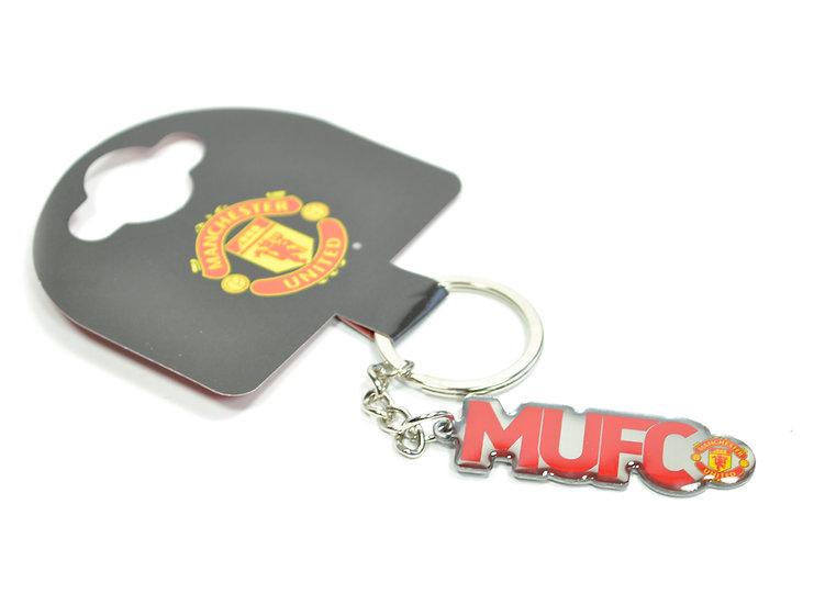 MUFC text keychain