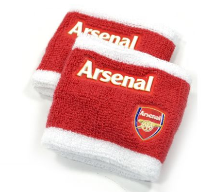 ARSENAL WRISTBANDS RED WHITE