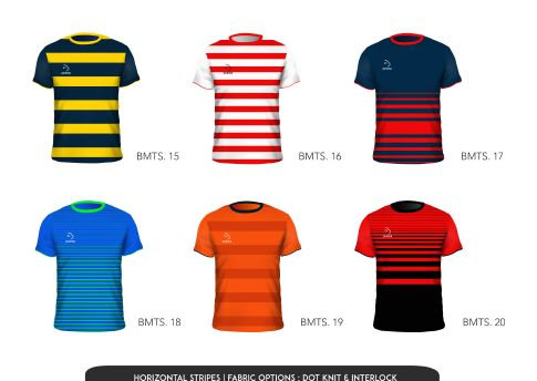 Piranha horizontal stripe jersey