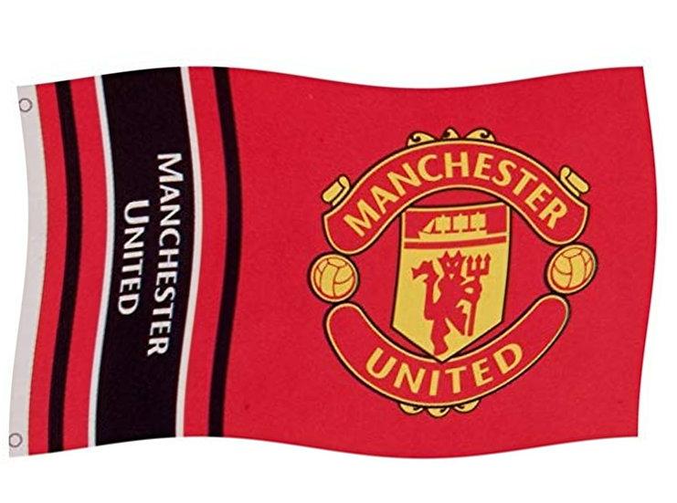 Manchester united FC 5 x 3ft Wordmark Flag