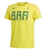 Adidas Brasil Russia World Cup cotton lifestyle tee.