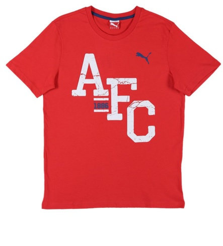 PUMA ARSENAL FC FAN TEE HIGH RISK RED