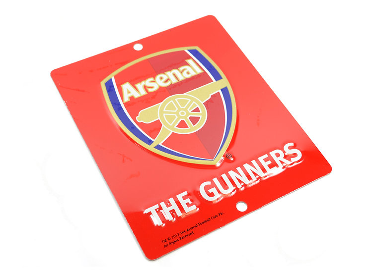 Arsenal 3D window sign