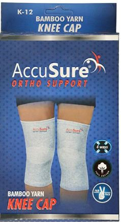 Accusure bamboo yarn knee support pair