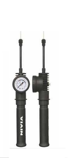 NIVIA BALL PUMP WITH PRESSURE GAUGE
