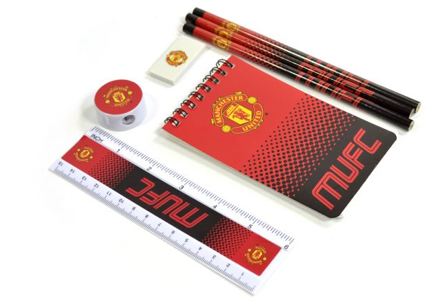MAN UTD FADE STARTER 7 PIECE STATIONERY SET