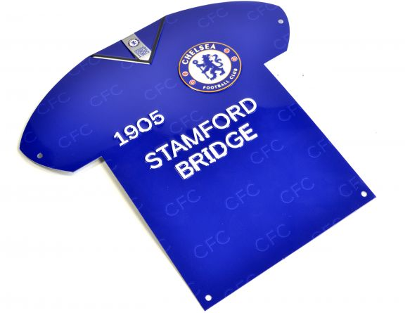 CHELSEA SHIRT SHAPED METAL SIGN