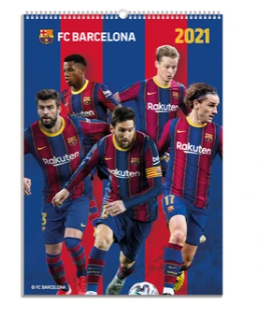Danilo Barcelona 2021 A3 wall calendar