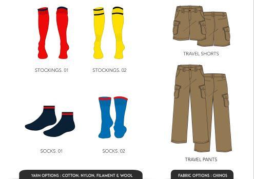 Piranha socks and travel wear