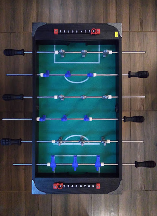 Mini foosball table game