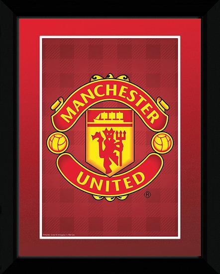 Manchester United Crest 15x20cm with frame PFA240