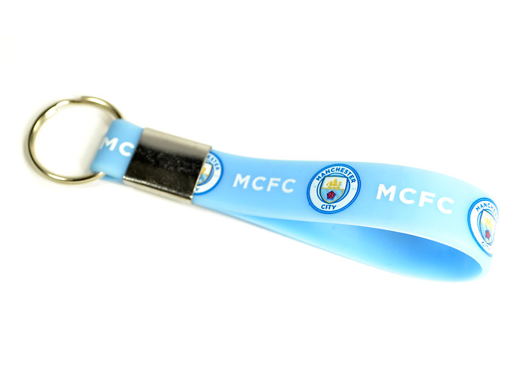 Manchester City FC silicon key chain