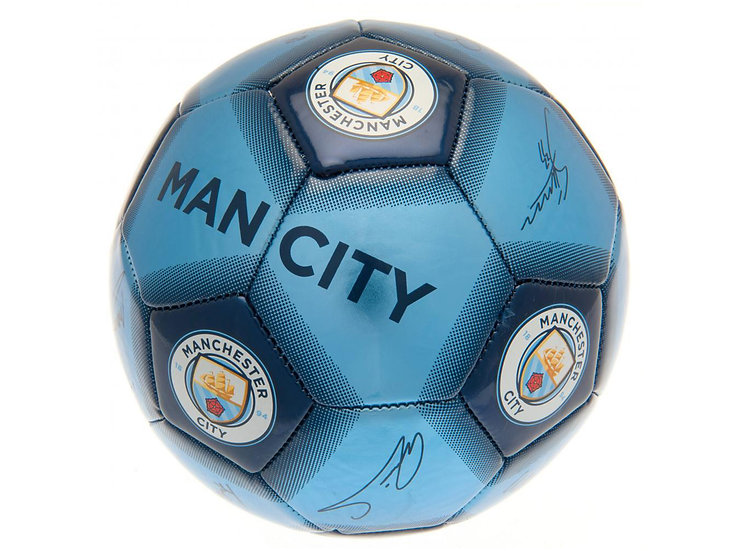 Man City Signature Ball Size 5 Navy Blue