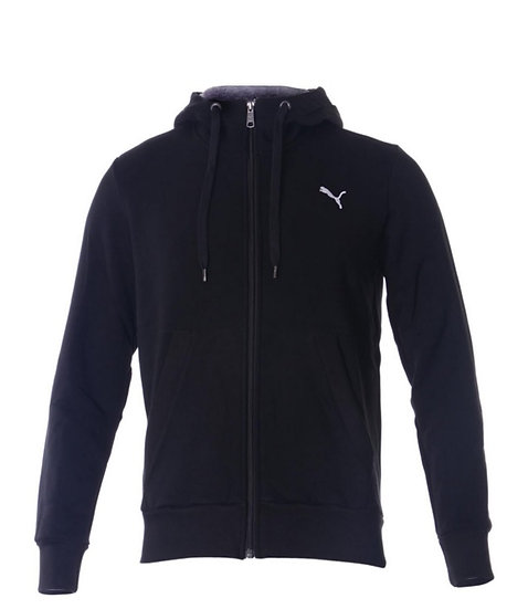 PUMA ESS HOODED JACKET FL BLACK