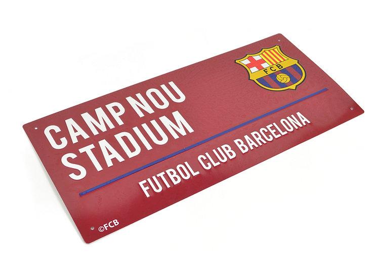 FC Barcelona colour metal street sign