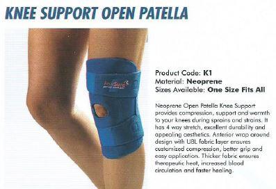 Accusure knee support open Patella