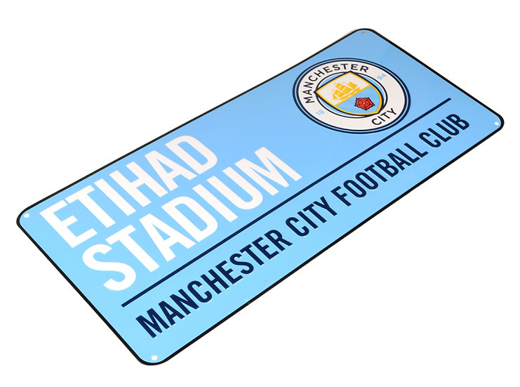 Manchester City colour metal street sign