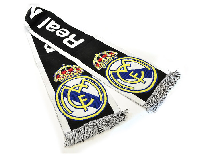 Real Madrid black text scarf