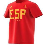 Adidas Spain Russia world cup cotton lifestyle tee.
