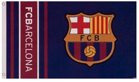 Barcelona Wordmark Stripes Flag 5 x 3