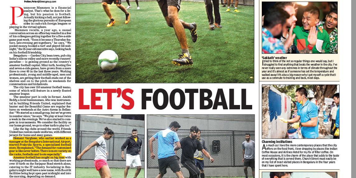 Prakrida Times of India 25Sep16