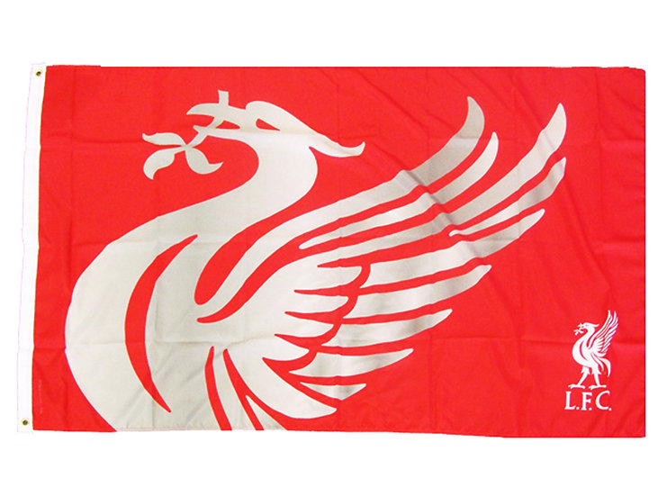 Liverpool Word mark stripes flag 5ft x 3ft