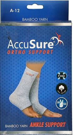 Accusure bamboo yarn ankle support pair