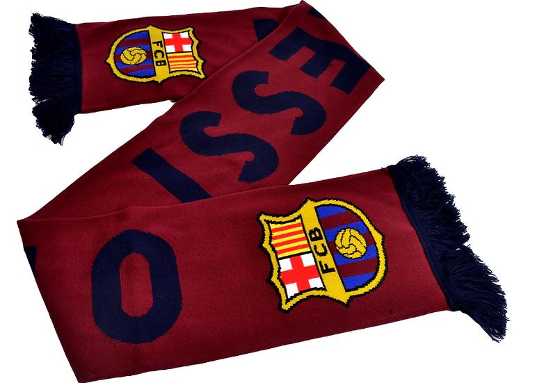 FC Barcelona Messi 10 High Def Jacquard Knit Burgundy Scarf
