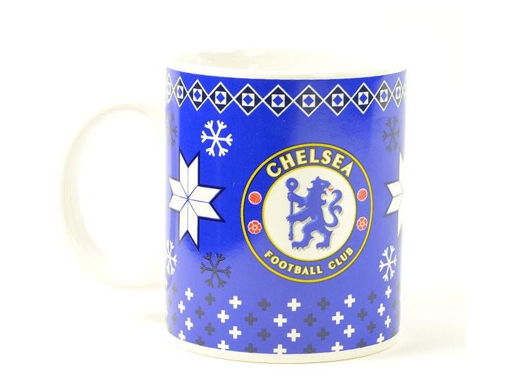 Chelsea FC christmas mug