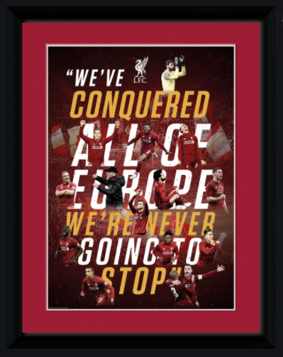 Liverpool FC Conquered all of Europe Framed Poster