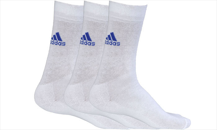 ADIDAS HALF CUSHION CREW SOCKS