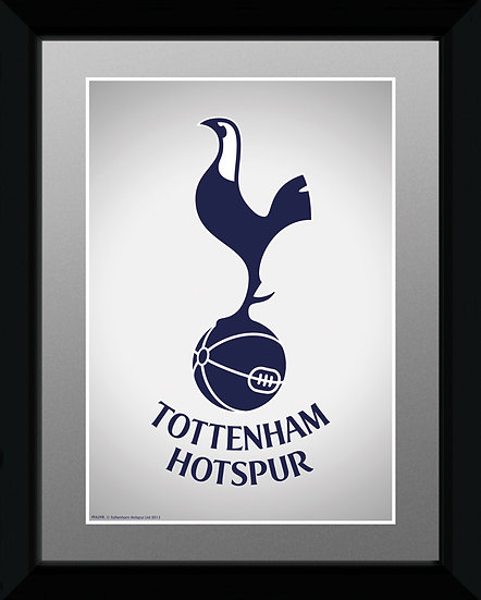 Tottenham Hotspur crest 15x20cm with frame PFA398
