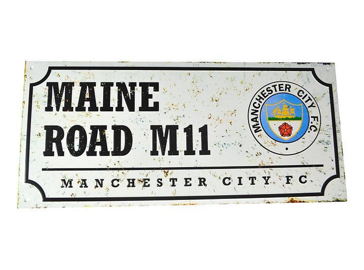 Man City Retro metal street sign