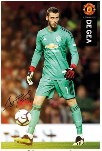 Manchester United De Gea framed poster
