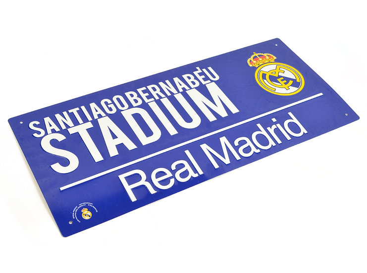 Real Madrid colour metal street sign