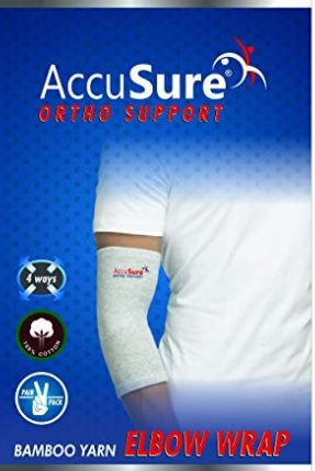 Accusure bamboo yarn elbow support pair