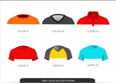Piranha jersey collar and sleeve options