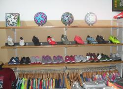 Adidas footballs and shoes
