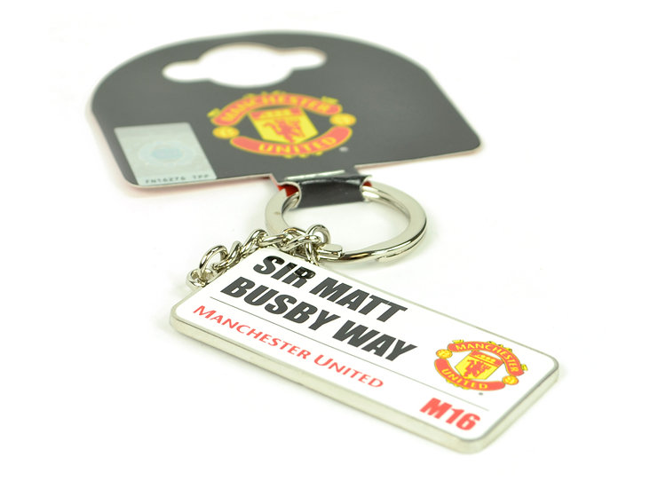 Manchester United Sir Matt Busby way key chain