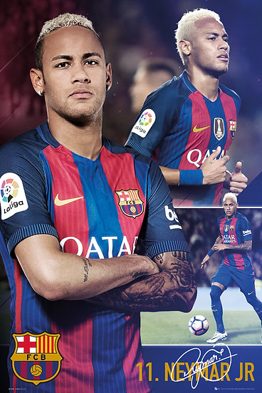 Neymar FCB collage maxi poster SP1426
