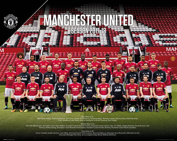 Man Utd Team Photo 2017-18